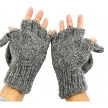 Wol handschoenen met fleece