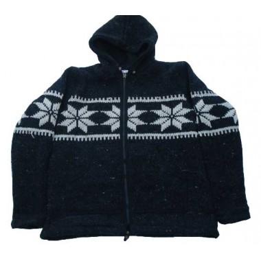 Woolen Jacket with Hat